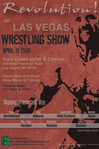 Pro Wrestling Revolution in Las Vegas!